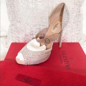 Valentino Microstud Mary Jane Embellished Pump